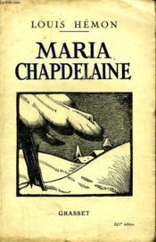 Maria Chapdelaine. - Couverture - Format classique