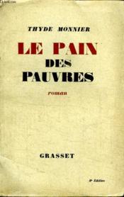 Le Pain Des Pauvres. - Couverture - Format classique