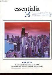 Essentilia - Ucb - Chicago - 3° Congres International De L'Ipa - Couverture - Format classique