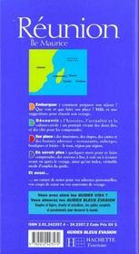 Guides bleus evasion ; la reunion et l'ile maurice - 4ème de couverture - Format classique
