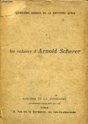 Les Cahiers D'Arnold Scherer - Quinzieme Cahier De La Septieme Serie . - Couverture - Format classique