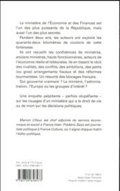 Dans l'enfer de Bercy - 4ème de couverture - Format classique