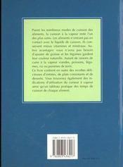 Delicieuses Recettes Avec Le Vapocuiseur - 4ème de couverture - Format classique