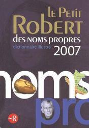 Petit robert noms propres 2007 - Intérieur - Format classique