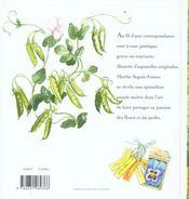 Lettres De Mon Jardin - 4ème de couverture - Format classique
