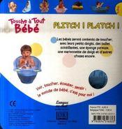Plitch platch - 4ème de couverture - Format classique