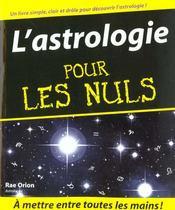 Astrologie Pour Les Nuls - Intérieur - Format classique