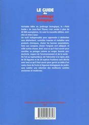 Le guide du jardinage biologique - 4ème de couverture - Format classique