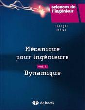 Mécanique pour ingénieurs t.2 ; dynamique - Couverture - Format classique
