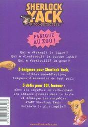 Sherlock Yack t.2 ; qui a étranglé le tigre ? - 4ème de couverture - Format classique