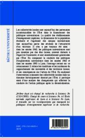 Bâtir l'université ; gouverner les implantations universitaires à Lyon (1958-2004) - 4ème de couverture - Format classique