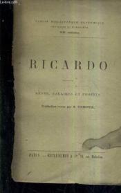 Ricardo - Rente Salaires Et Profits. - Couverture - Format classique