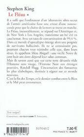 Le fléau t.1 - 4ème de couverture - Format classique