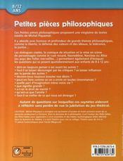 Petites pièces philosophiques ; 8/12 ans - 4ème de couverture - Format classique