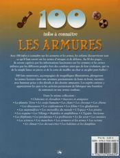 100 Infos A Connaitre ; Les Armures Et Les Armes - 4ème de couverture - Format classique