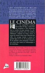 Le cinema - 4ème de couverture - Format classique