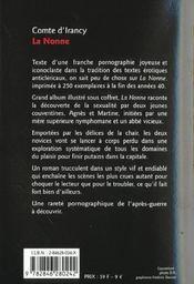 Nonne - 4ème de couverture - Format classique