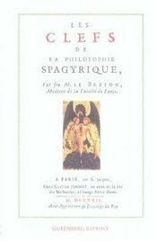 Les Clefs De La Philosophie Spagyrique - Intérieur - Format classique