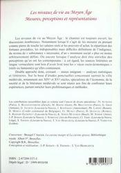 Niveaux De Vie Au Moyen Age - 4ème de couverture - Format classique