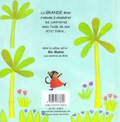 Mon Petit Frere Les Contraires De Mimi - 4ème de couverture - Format classique