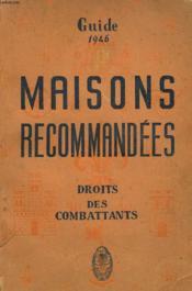 Guide Des Maisons Recommandees - Couverture - Format classique