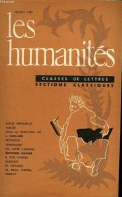 Les Humanites - Classe De Lettres - Fevrier 1959 - Couverture - Format classique