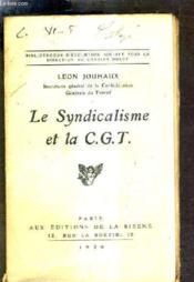 Le Syndicalisme Et La C.G.T. - Couverture - Format classique