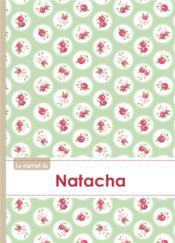 Carnet Natacha Lignes,96p,A5 Rosesteatime - Couverture - Format classique