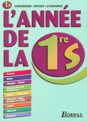 L'Annee De ; 1ere S (édition 2006) - Intérieur - Format classique
