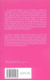 Un amour de Sagan - 4ème de couverture - Format classique
