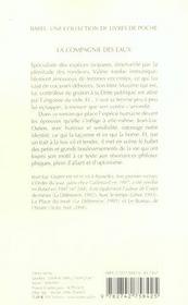 La compagnie des eaux babel 728 - 4ème de couverture - Format classique