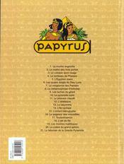 Papyrus t.21 ; talisman de la grande pyramide - 4ème de couverture - Format classique