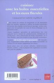 Cuisiner avec les huiles essentielles et les eaux florales - 4ème de couverture - Format classique