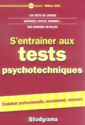 S'entraîner aux tests psychotechniques - Intérieur - Format classique
