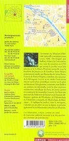 Le jardin des plantes et le museum national d'histoires naturelles - 4ème de couverture - Format classique