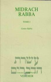 Midrach Rabba t.1 ; genèse Rabba - Couverture - Format classique
