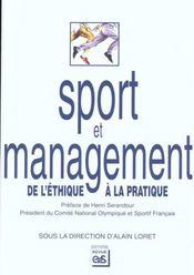 Sport et management ; de l'éthique à la pratique - Intérieur - Format classique