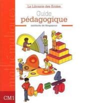 Manuel de mathématiques CM1 ; guide pédagogique - Couverture - Format classique