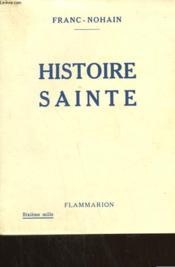 Histoire Sainte. - Couverture - Format classique