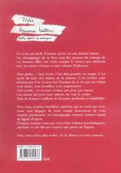 Nous Femmes Battues - 4ème de couverture - Format classique