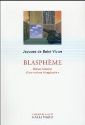 Le blasphème - Couverture - Format classique