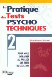 Pratique tests psycho. - Couverture - Format classique