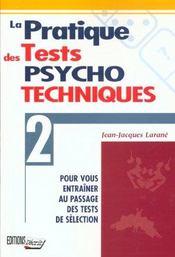 Pratique tests psycho. - Intérieur - Format classique