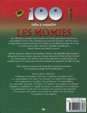 100 Infos A Connaitre ; Les Momies - 4ème de couverture - Format classique