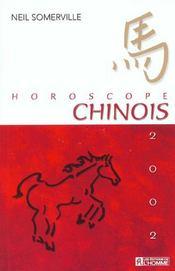 Horoscope Chinois ; Edition 2002 - Intérieur - Format classique