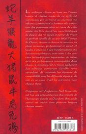Horoscope Chinois ; Edition 2002 - 4ème de couverture - Format classique