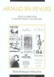 Artaud En Revues - Intérieur - Format classique