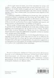Artaud En Revues - 4ème de couverture - Format classique