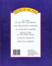Contes de mes nuits - 4ème de couverture - Format classique