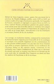 Introduction a la vie interieure et pratique fruitive de la vie mystique - 4ème de couverture - Format classique